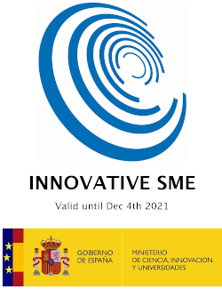 Innovative Small-Medium Enterprise badge by Spanish Ministry of Science, Innovation, Universities